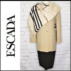 VINTAGE ESCADA Long Line Wool Blazer Jacket 38/8